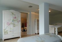 Painted walls and furniture / hand painted interior decorations
