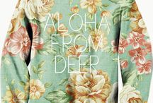 Aloha from deer / Very nice brand Aloha from deer