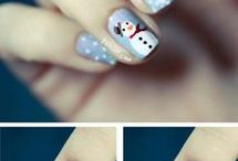• Winter nail art