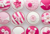 Decorating a cupcake and muffin