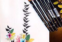 Brushlettering flowers