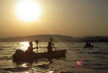 Coucher du soleil, en kayak de mer, un spectacle magique / Découvrez un spectacle inoubliable, le coucher du soleil se couchant sur les Estérel au départ de Golfe Juan, cap d'Antibes ou Cannes. superbe balade en kayak de mer, Réservation au 0687954518