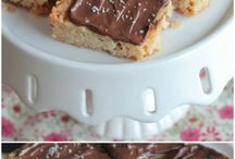Nutella shortbread bars
