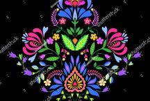 symmetric floral print