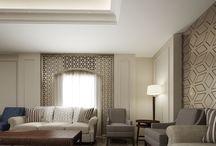 Budget hotel interior