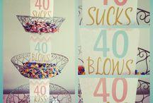 40th bday cakes