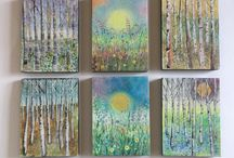 Etsy Art Shop. / Original Acrylic small paintings on wood block or mini canvases. www.talulahbluebelle.etsy.com