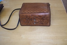 Tooled leather work / Tooled and carved leather products of all kinds