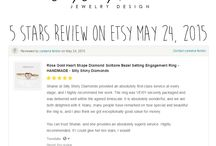 Silly Shiny Diamonds Jewelry Reviews / The best moments in our lives that makes everything worth our passionate hard, obsessive work is when our clients are happy excited and thrilled from their gorgeous new jewelry handmade by Silly Shiny :)