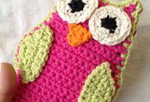 Crochet bath mitts
