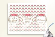 Baby Shower Products in Roses Theme, Invitations, Games, Decorations And More / Hi, thank you for visiting this beautiful baby shower board with products in Roses theme. Here, you'll find invitations, games and activities, decorations and more with over 60 products in this theme.