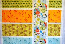 Fabric / Rectangles n strip quilt