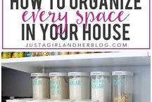 Get Organzied / Tips for organization and tips to get organized