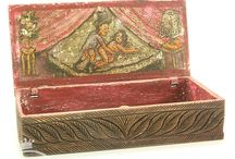 Antique Erotic Boxes from India / Purchased from an antique dealer from India, probably turn of the century. Although they may be older, we are still researching their provenance.