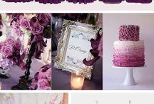 Wedding in purple