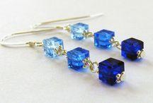Cube/square bead earrings by art