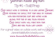 Jamicure Tips from Jammin Nails By Kim / Tips, Techniques & Tricks to a Happy Jamicure.