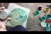 Acrylic fluid painting Annemarie Ridderhof