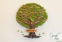 drzewo genealogiczne/family tree manually created handicraft / Ręcznie tworzone drzewa genealogiczne, wykonywane na indywidualne zamówienie  www.ogrodybasi.pl