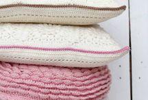 Crochet pillows.