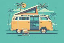Travel design illustration