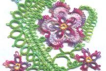 patrones de encaje de aguja