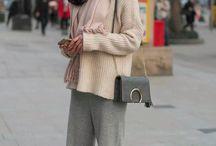 Knitwear Street Style Winter Fashion ❤️