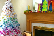 Colorful Christmas trees / Color is all the rage... some of us have been doing it all along!  Here is some colorful Chirstmas inspiration