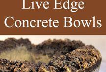 concrete bowls living edge
