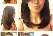 medium hair cut style