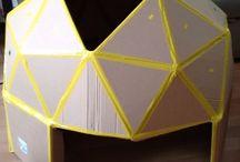 dome geodesique carton