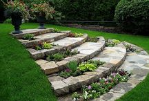 Stone step walkways
