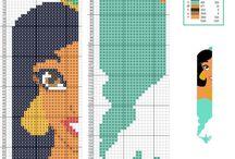 Cross Stitch Disney Bookmark