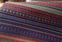 fabric woven rug