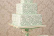 Damask Design Cake