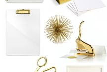White and gold accessories and schemes