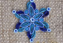 Quilling - snowflakes