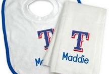 Personalized Baby Gifts For Texas Rangers Fans / Personalized Kids Gifts For Fans Of The Texas Rangers Major League Baseball Team.