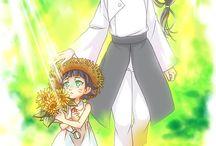 Neji and Himawari