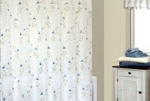Shower Curtains + Matching Window Treatments= Perfect Pair! / Kick your bathroom up a notch with matching shower curtains and window treatments!  At BedBathHome.com there are several ways to create a new look to your home!