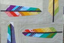 Rainbow Mini Quilt inspiration team orange