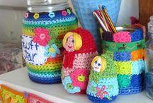 lanas, crochet, palillos