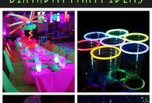 UV light glow Party (Blacklight party)
