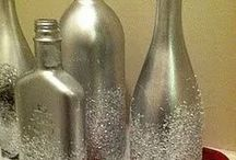 pintar botellas niqueladas