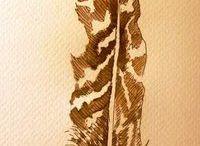 pentekeningen met aquarel / ansichtkaarten en illustraties in opdracht www.brechtjeduijzer.nl
