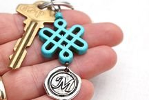 Personalized Gifts / Personalized Gifts, Initial Keychains, Monogram Keychains / by Eva Miller of KapKaDesign