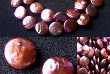 Fresh Water Pearls > Red-Cocoa Pearls / Radiant Red-Cocoa Fresh Water Pearls