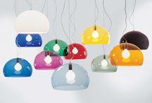 Lamper til spisestua og allrommet / Eva & Christian ser på lamper....