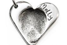 Fingerprint Jewellery / This is a selection of fingerprint jewellery which I have made for my lovely customers. #fingerprint #jewellery #charms #cufflinks #necklace  http://www.perfectcharm.co.uk/collections/personalised-jewellery
