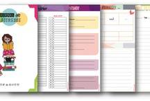 Cahier journal, plannings, etc...